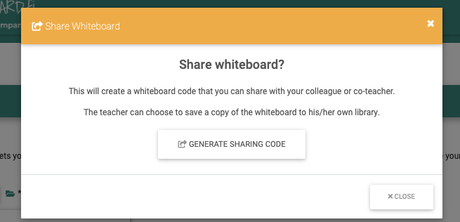 Share your library content easily with a link or a code
